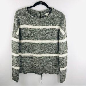 Hinge XS Gray Long Sleeve Sweater